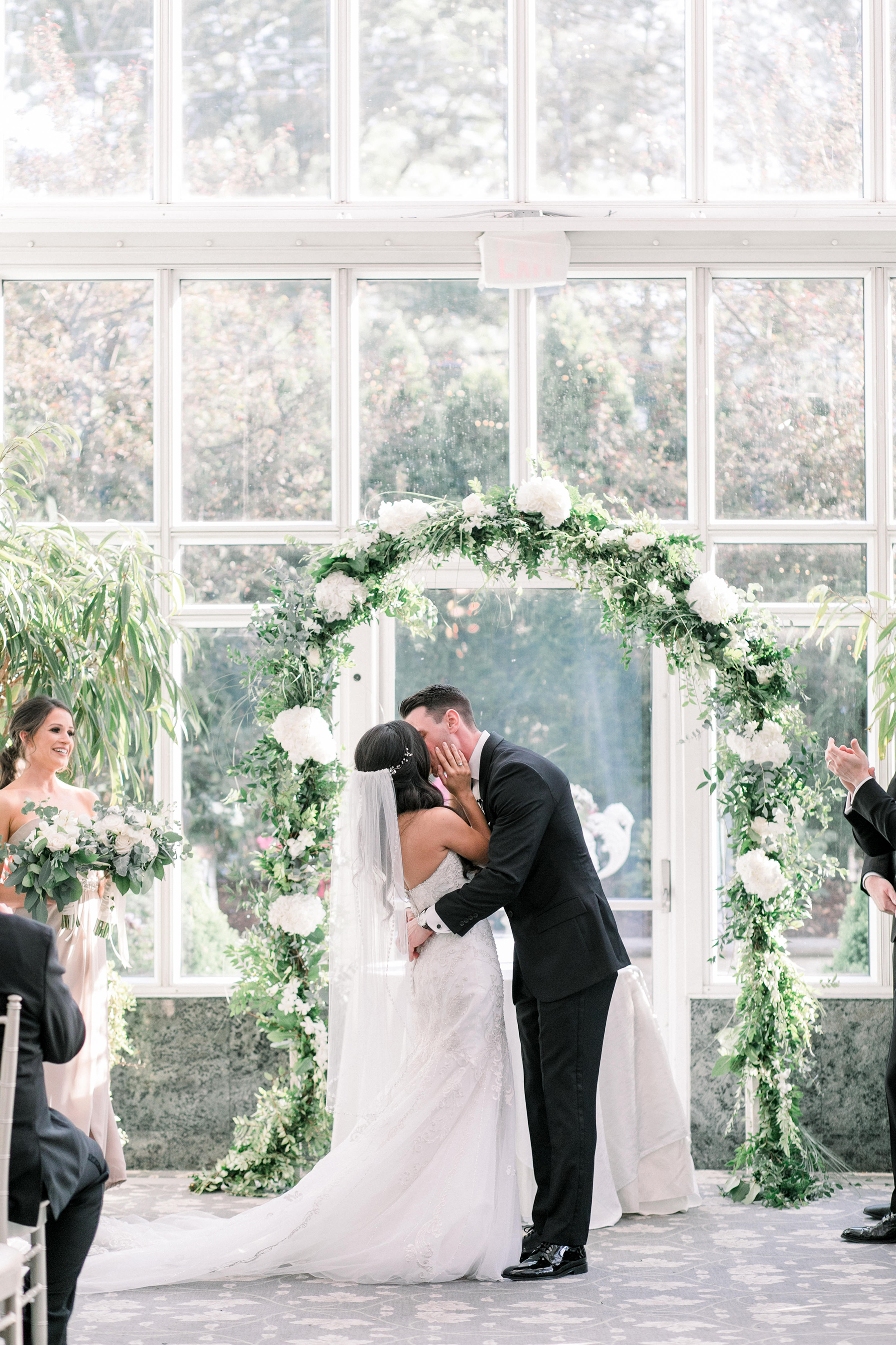 Timeless Conservatory Wedding with Neutral Colors Cassi Claire Photography19