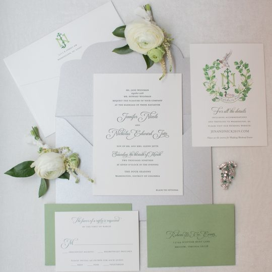 Timeless DC Wedding with Shades of Green Kristen Gardner Photography01