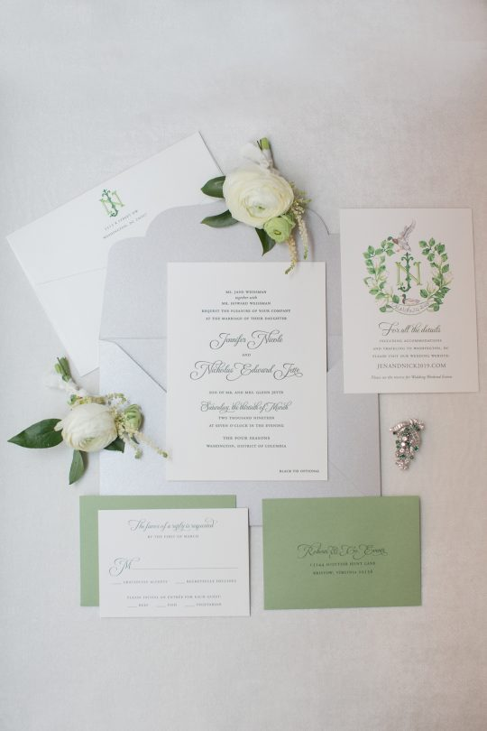 Timeless DC Wedding with Shades of Green Kristen Gardner Photography42