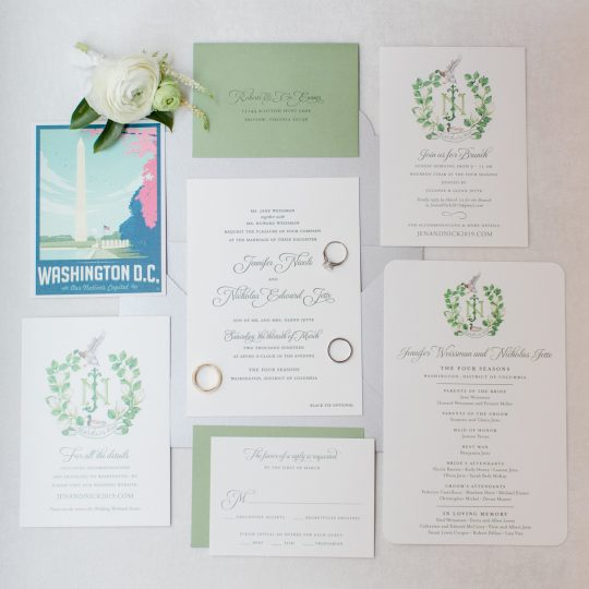 Timeless DC Wedding with Shades of Green Kristen Gardner Photography43