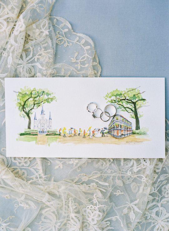 Watercolor Wedding Illustration