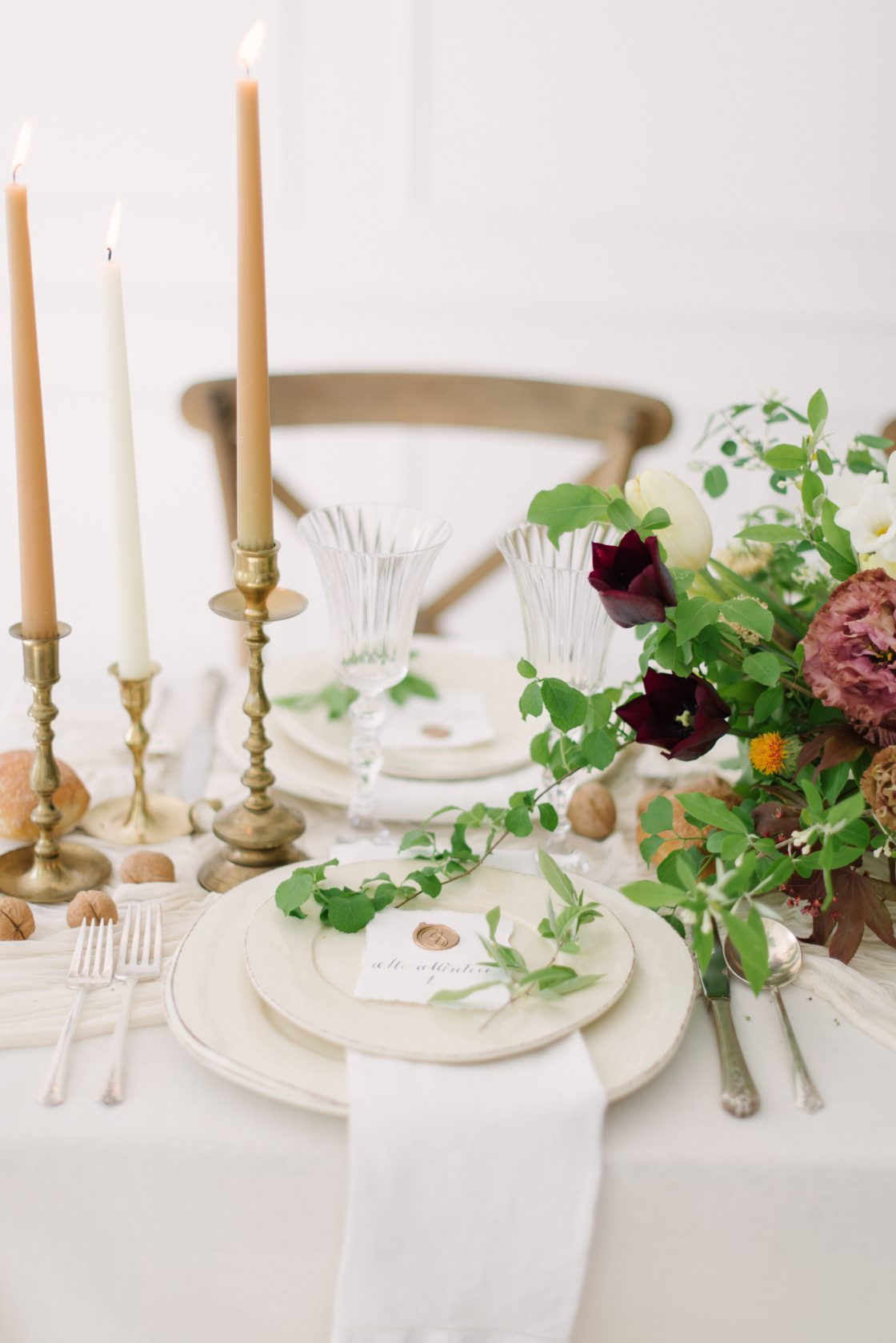Elegant Romantic Wedding Place Setting