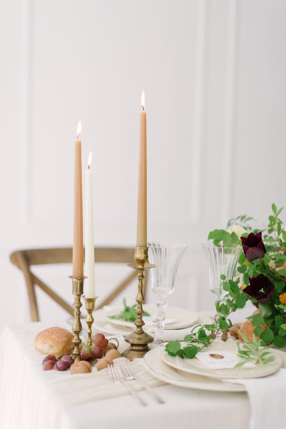 European Inspired Wedding Tablescape