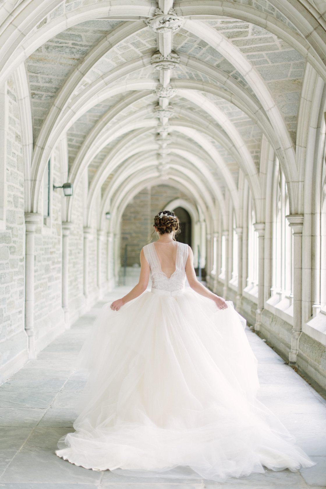 Ivory V Back Wedding Gown