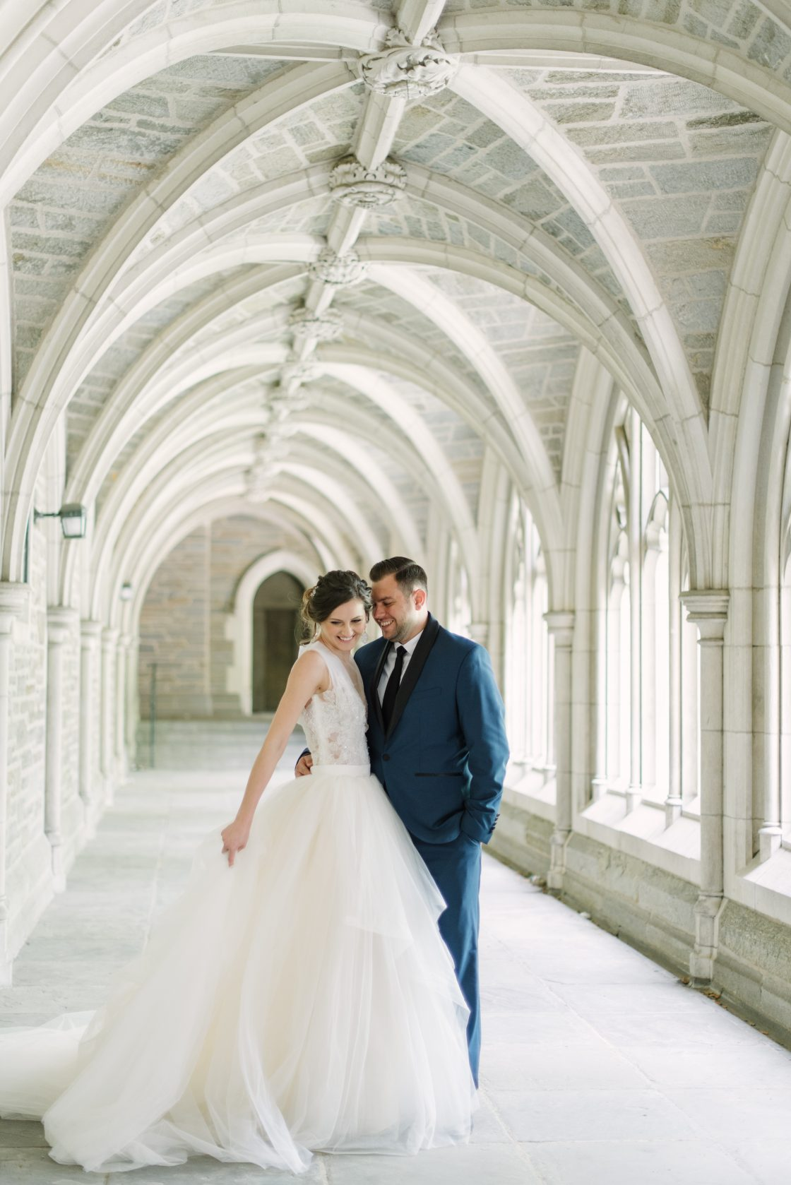 Romantic Candid Wedding Portrait