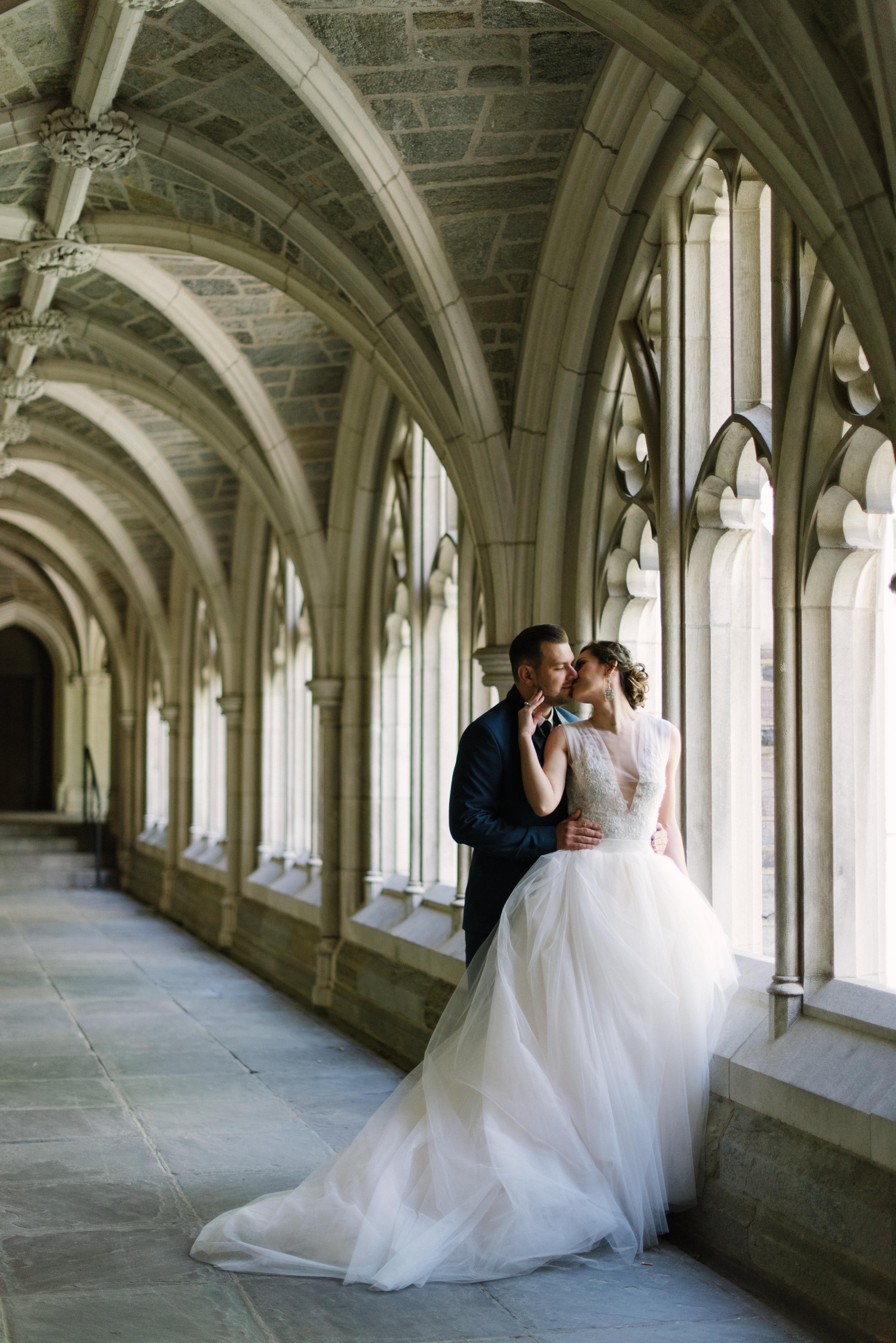Romantic European Wedding Portrait
