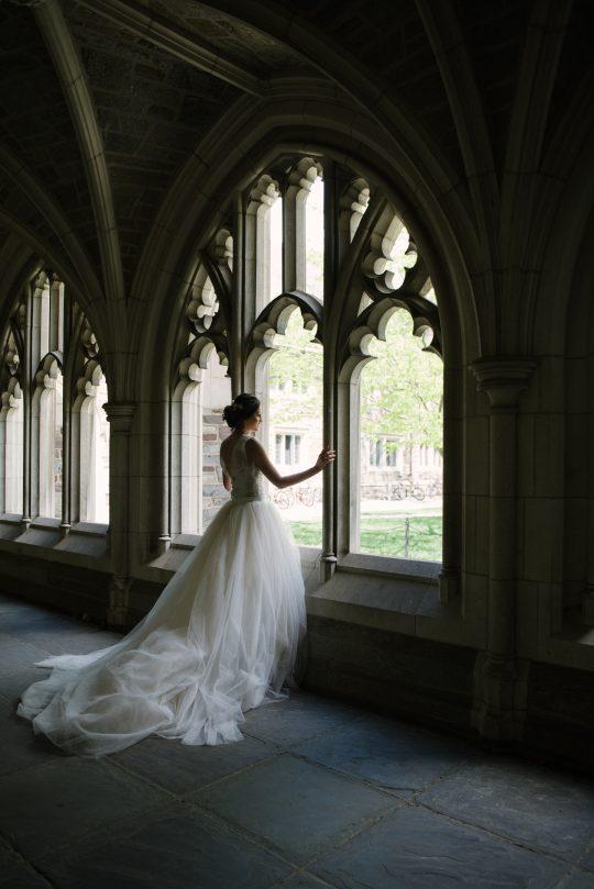 Silhouette Bridal Portrait