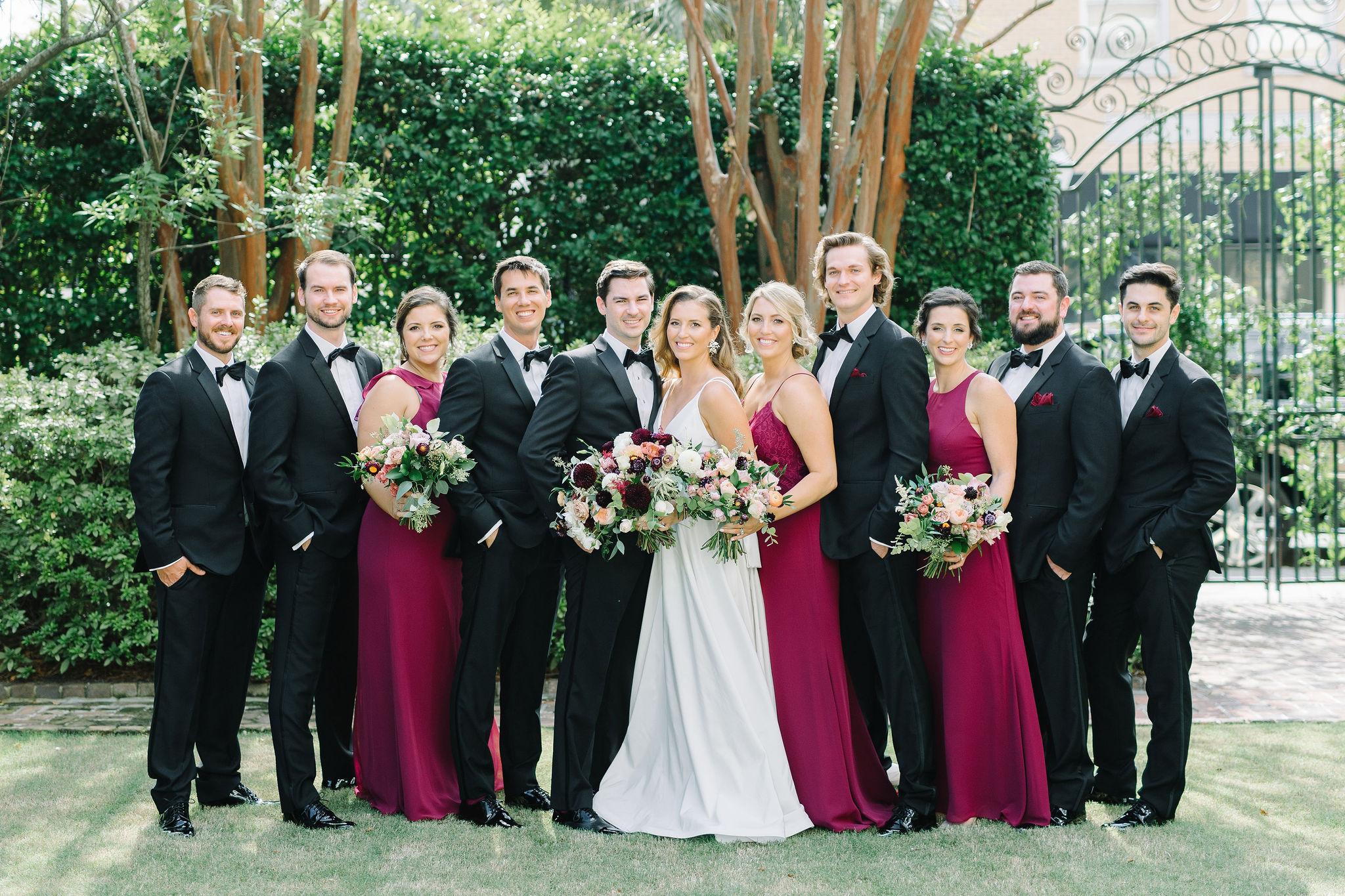 Burgundy Berry Elegant Bridal Party