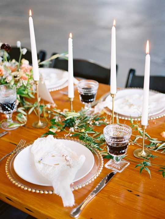 Candlelit Wedding Tablescape