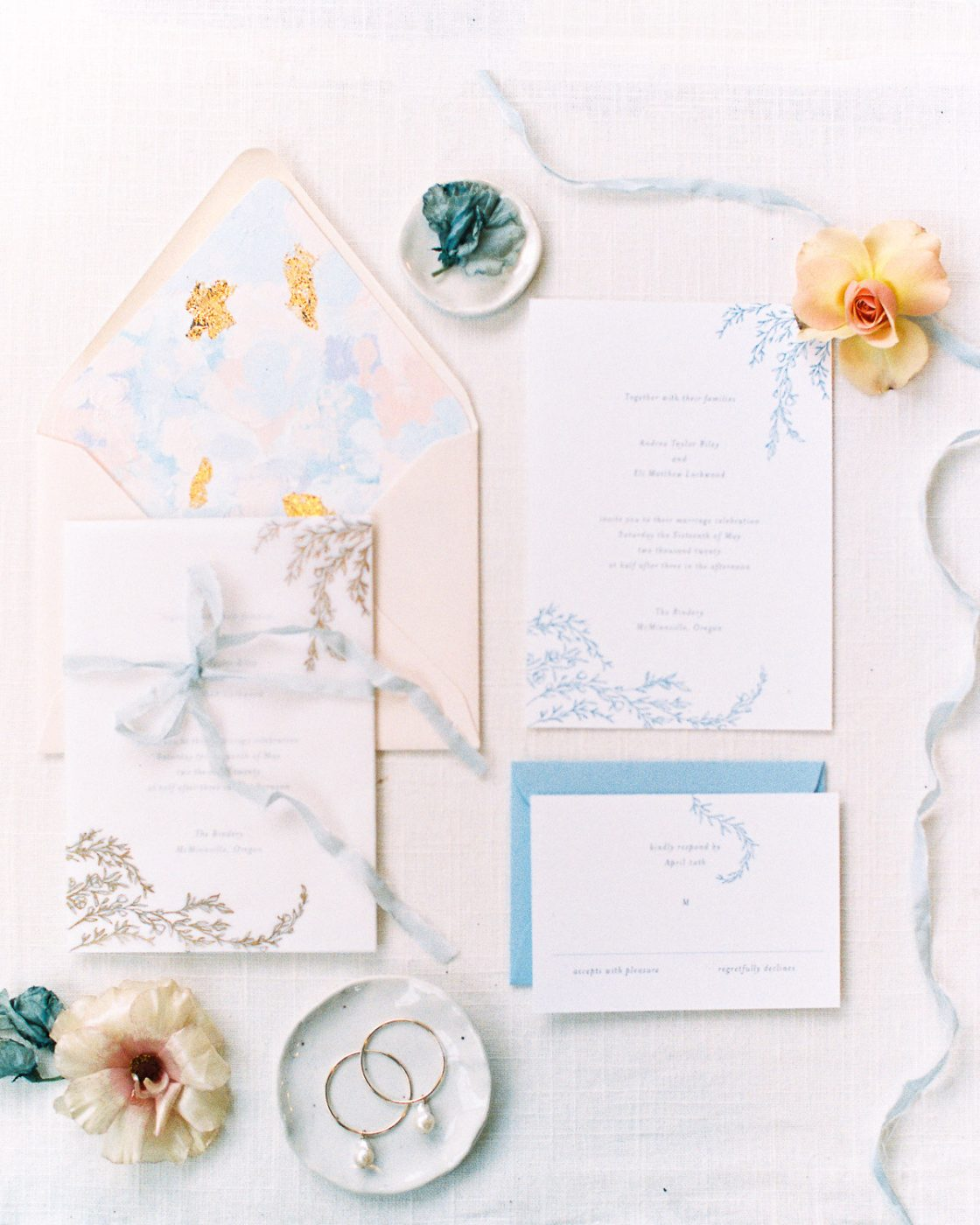 Classic Pastel Wedding Invitaiton