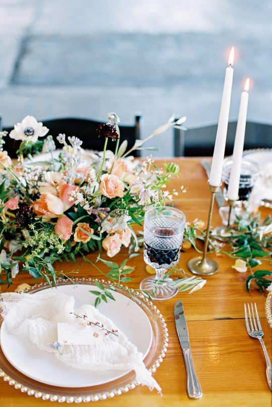 Natural Organic Wedding Tablescape