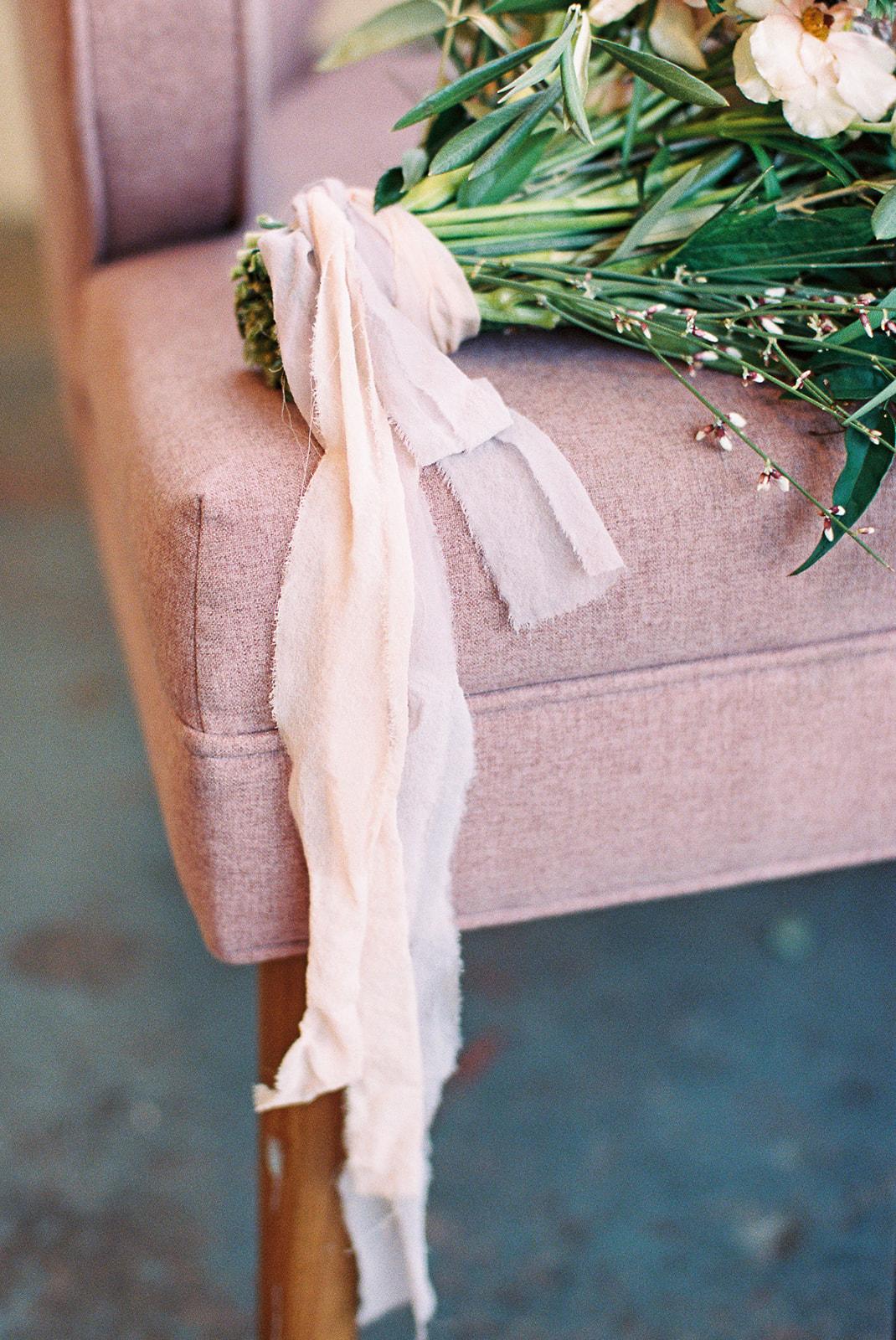 Natural Wedding Bouquet Tie