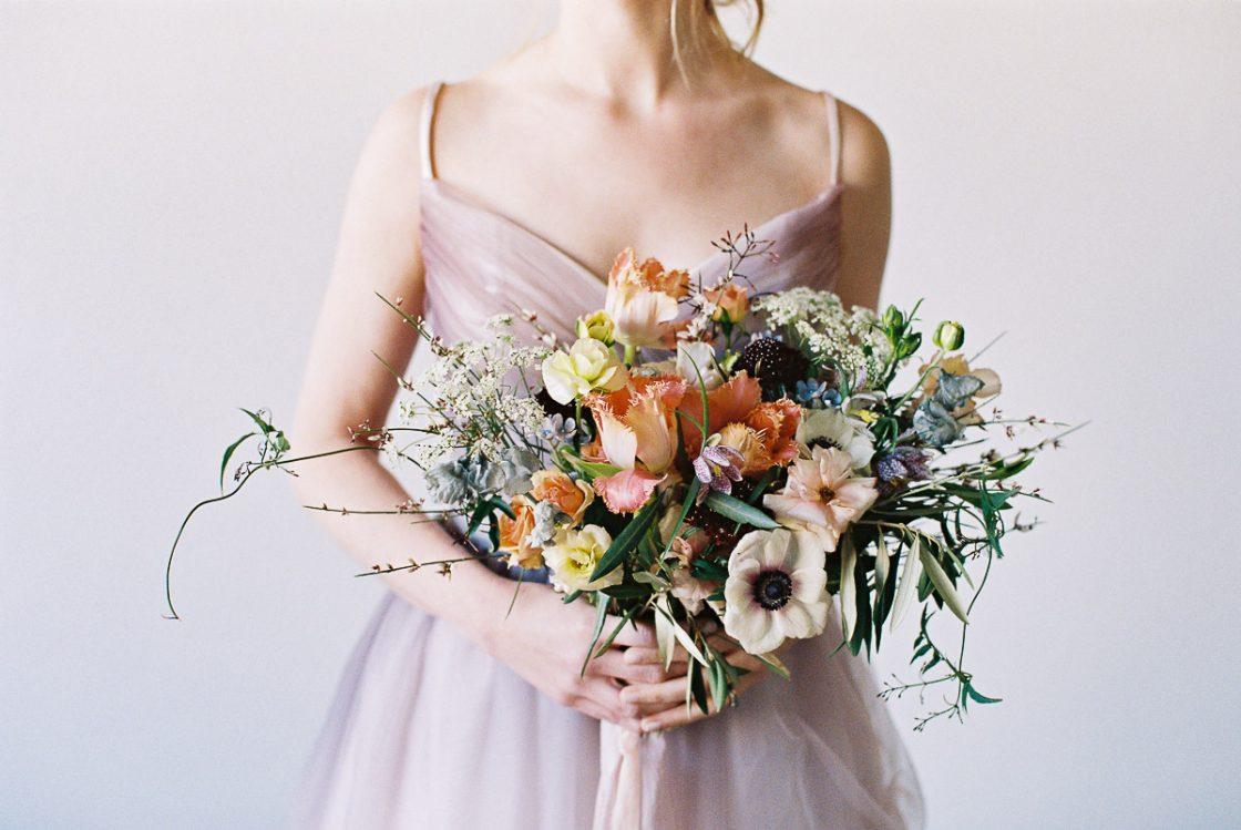 Pastel Springtime Wedding Bouquet