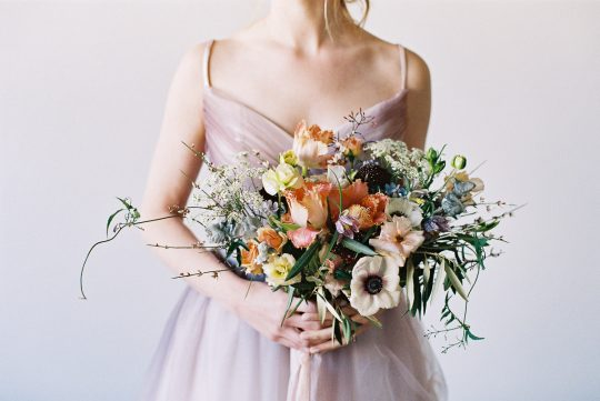 Pastel Springtime Wedding Bouquet