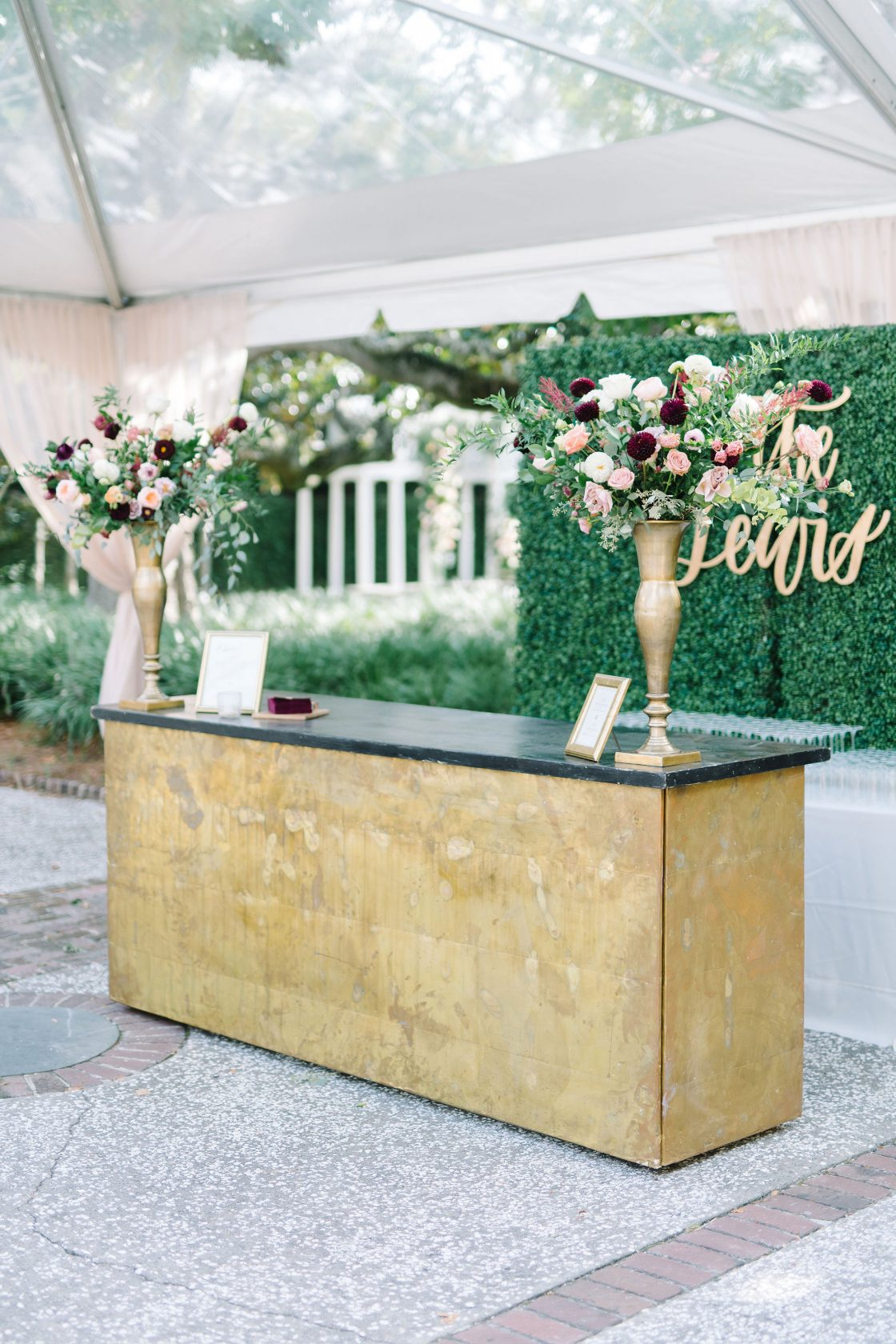 Personalized Wedding Cocktail Bar