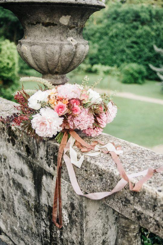 Antique Blush Gold Ivory Wedding Bouquet