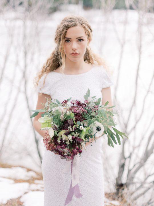Aubergine Wedding Bouquet