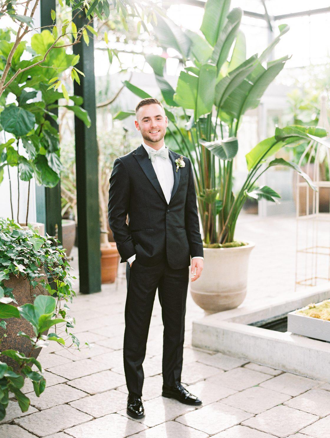 Classic Elegant Groom Black Suit