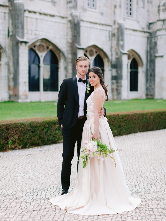 Classic Romantic Wedding Gown and Suit