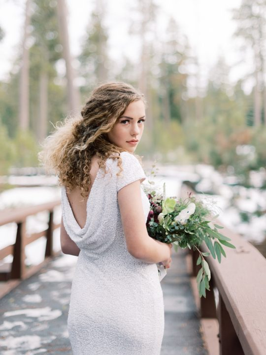 Cowl Back Wedding Gown