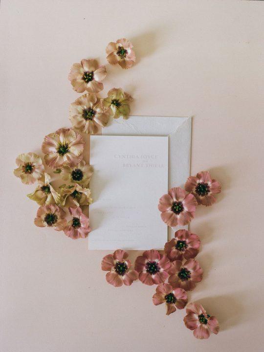 Dried Flower Wedding Invitation