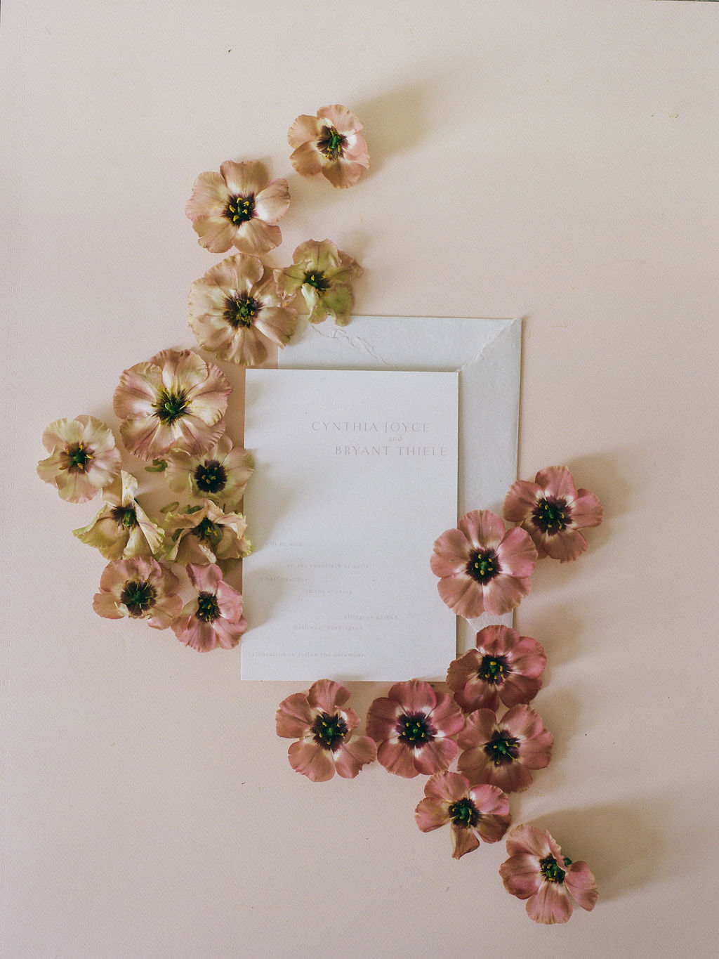 Dried Flower Wedding Invitation