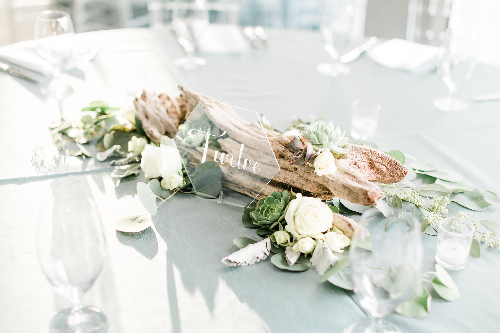 Driftwood and Succulent Wedding Centerpiece