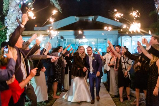 Elegant Sparkler Reception Wedding Sendoff