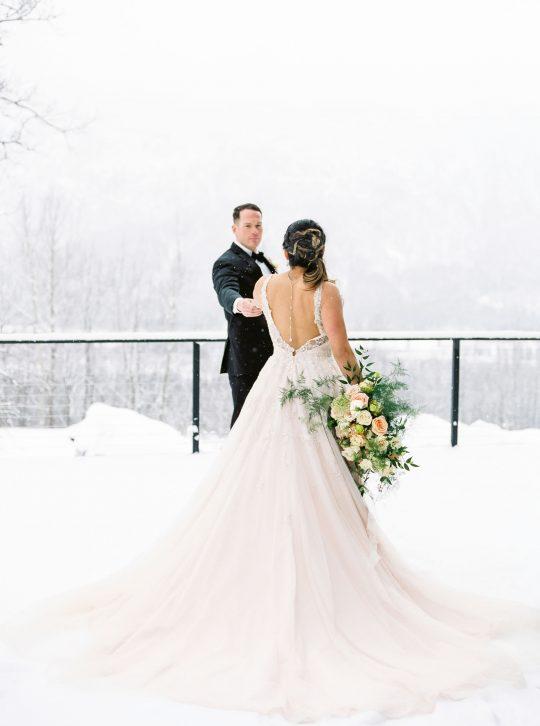Elegant Winter Alaska Wedding
