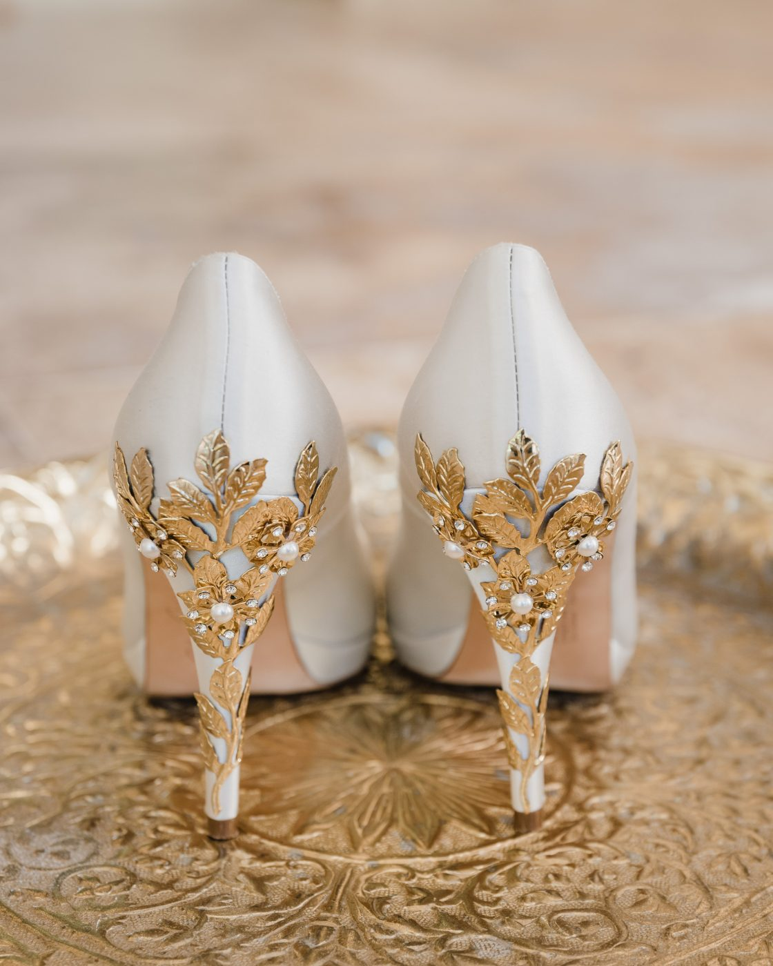 Guilded Greenery Wedding Shoes
