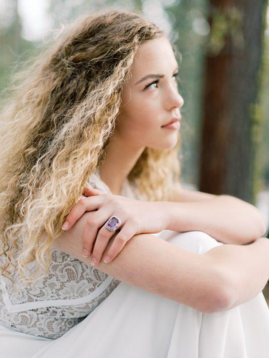 Heirloom Vintage Amethyst Pearl Ring