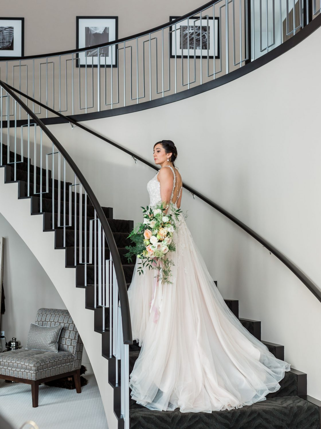 Modern Elegant Bridal Photos