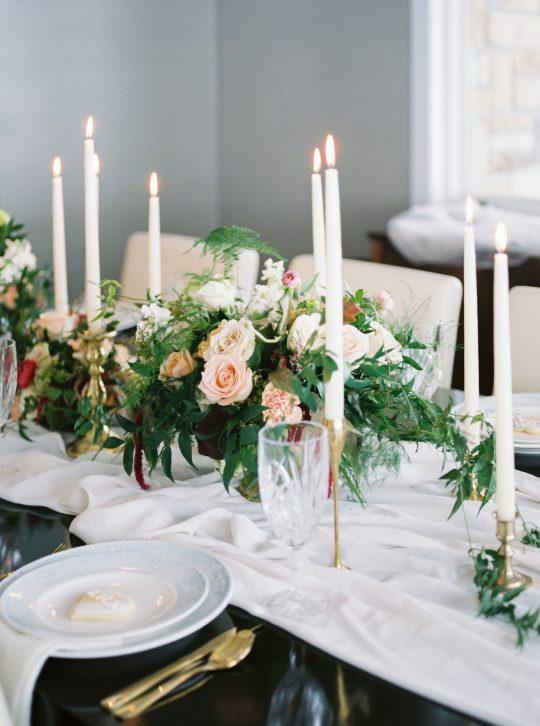Modern Romantic Rose Centerpiece