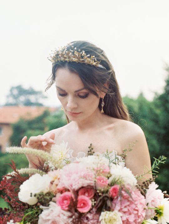 Old World Guilded Bridal Crown