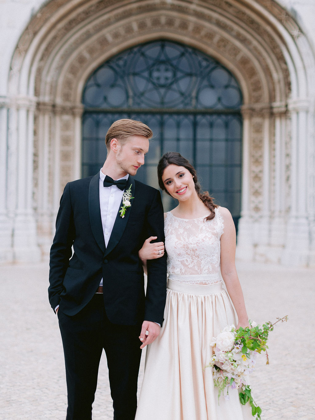 Old World Romantic Wedding Portrait