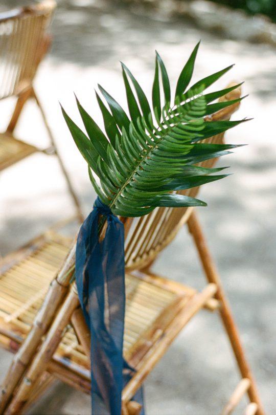 Palm Frond Aisle Decor