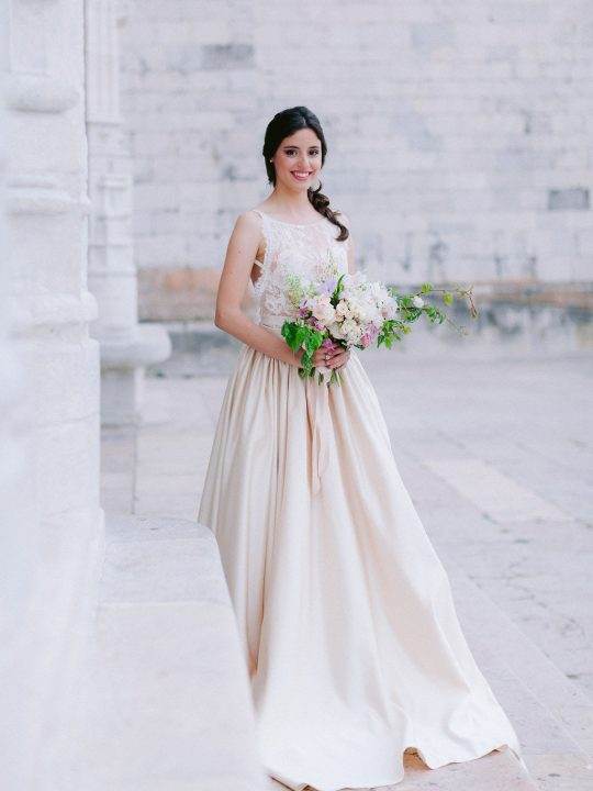 Romantic Champagne Wedding Gown