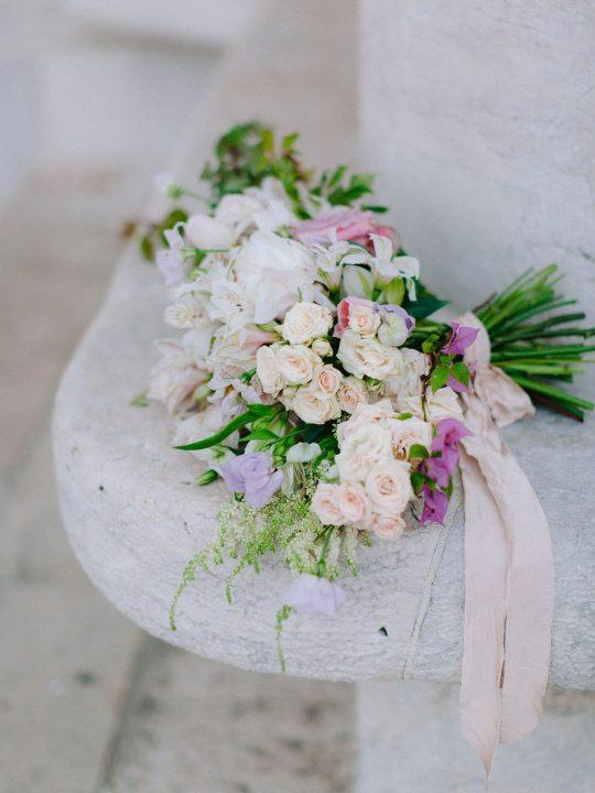 Romantic Rose Alstromeria Bougainvillea Bouquet