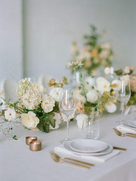 Rose Hydrangea Floral Table Runner
