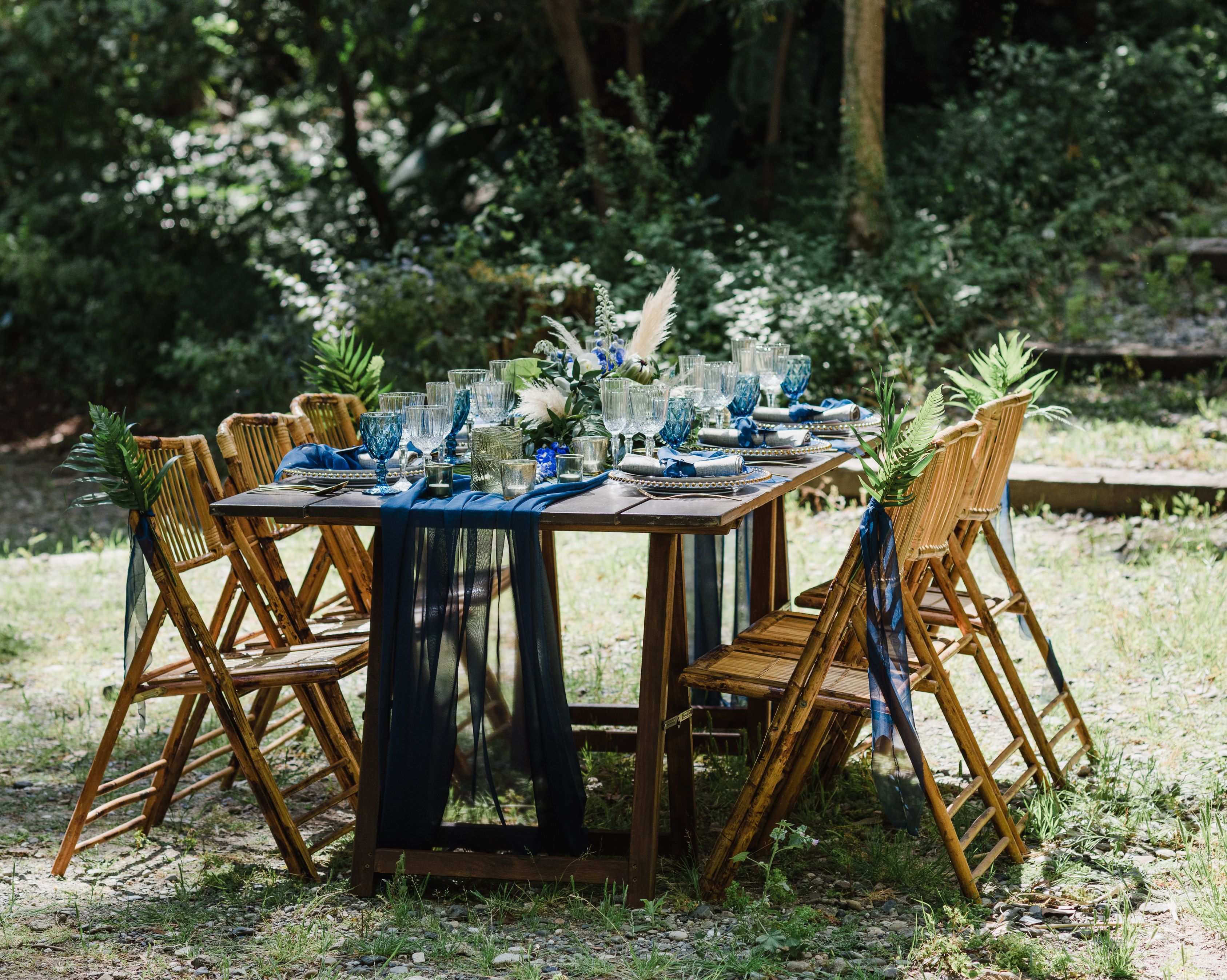 Rustic Tropical Wedding Table