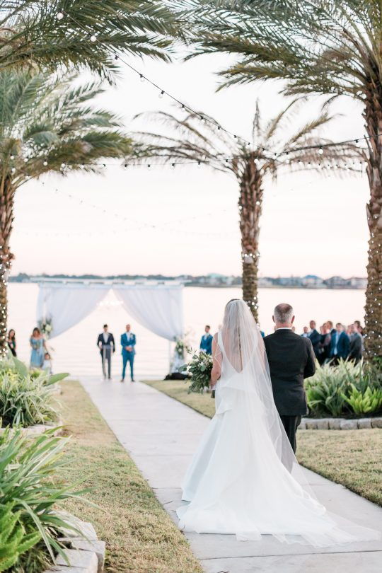 Sunset Waterfront Wedding Ceremony