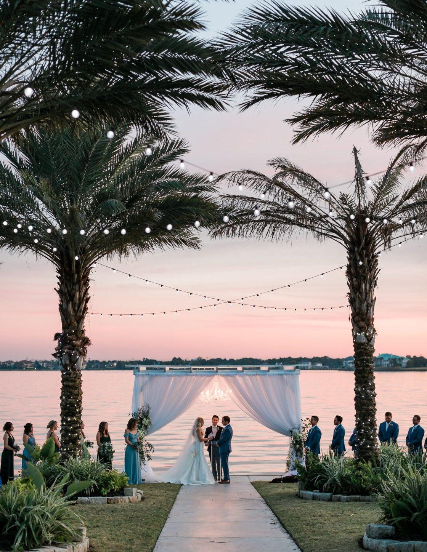 Texas Sunset Wedding Ceremony
