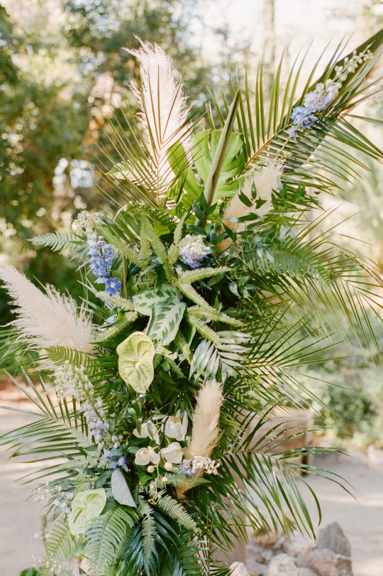 Tropical Wedding Greenery