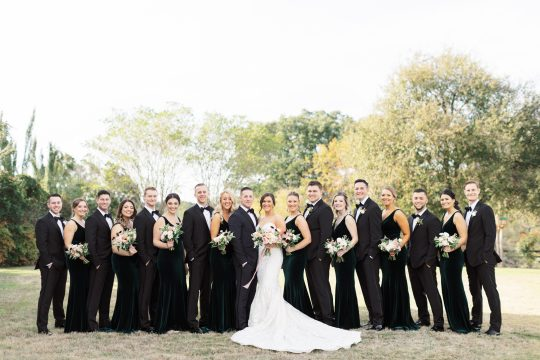 Black and White Bridal Party Attire