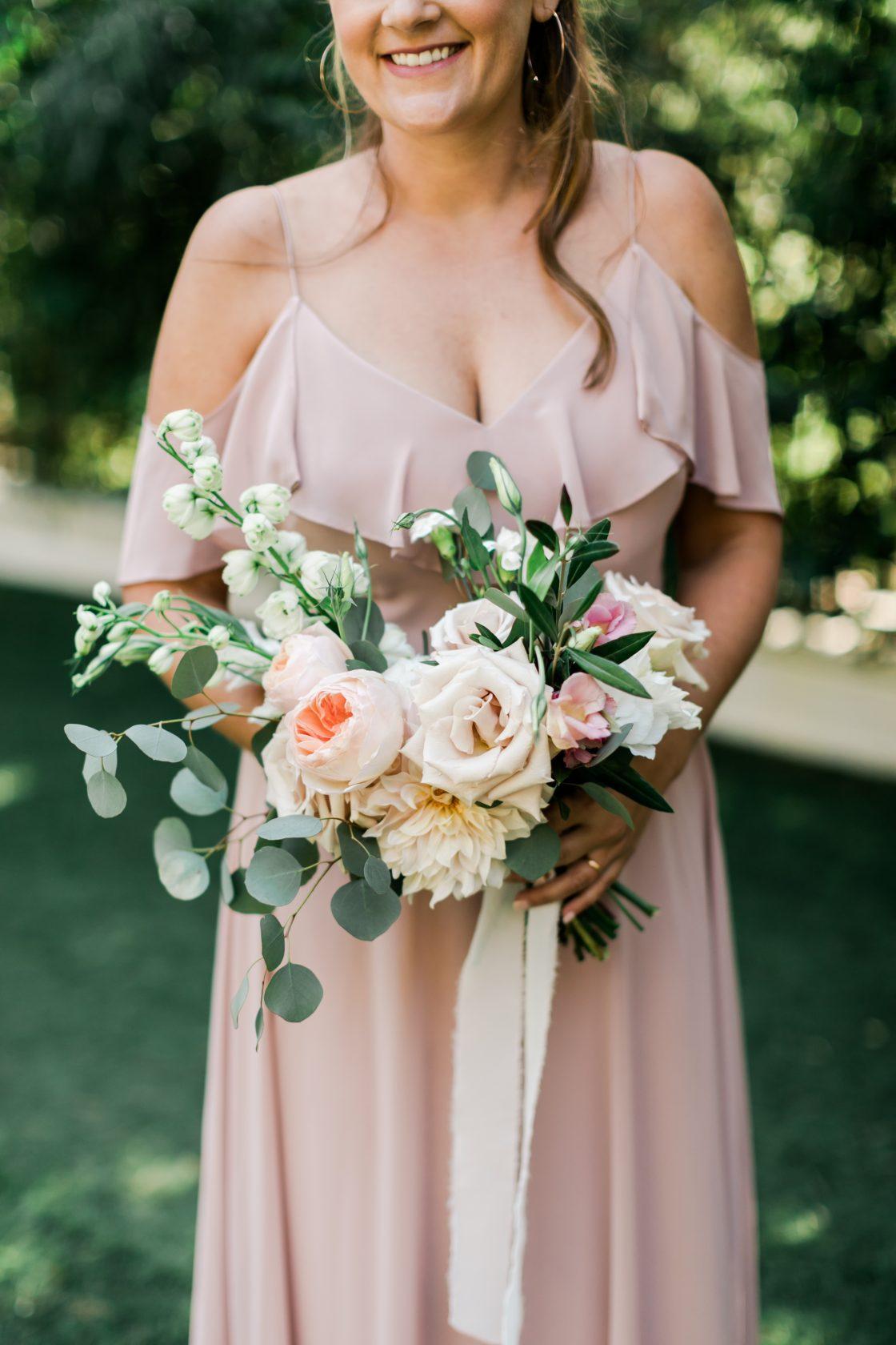 Blush Ivory Bridesmaids Bouquet