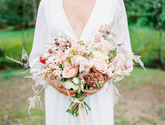 Blush and Earth Tone Wedding Bouquet