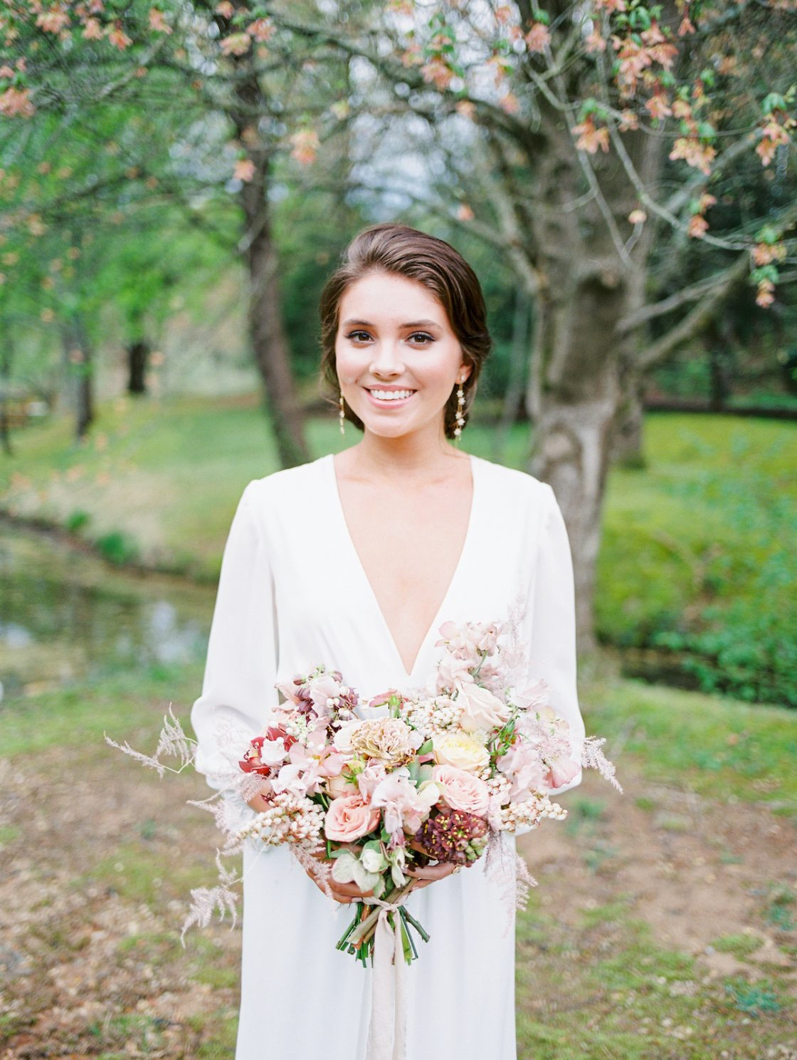 Blush and Natural Wedding Bouquet