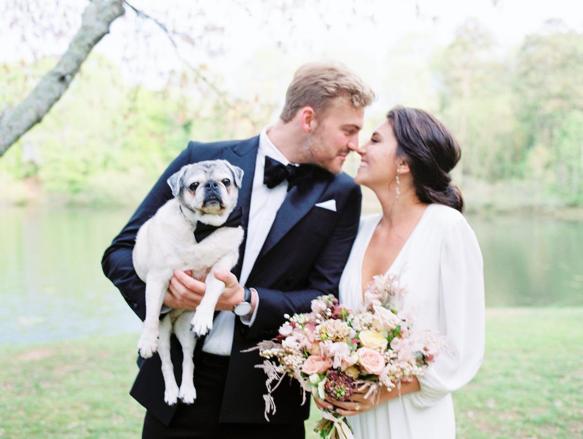 Bridal Photos with Dog
