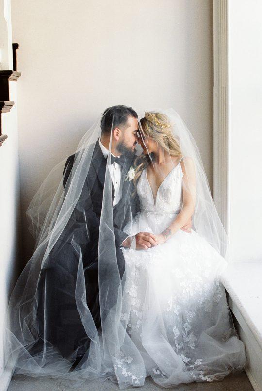 Bridal Veil Wedding Portrait