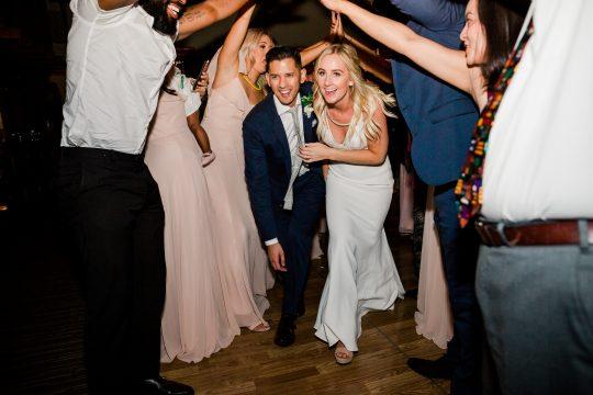Bride and Groom Wedding Reception Getaway